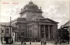"Wielka Synagoga zajmowała posesję przy Tłomackiem nr 7 (Warsaw, Poland). - Widok z ok. 1912 r. Zdjęcie pochodzi z książki ""Place Warszawy wczoraj i dziś"", Wyd. White, Warszawa 2009. - The Great Synagogue, formerly on Tłomacky St. nr 7 (Warsaw, Poland). Photo from 1912."