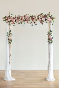 Engagement Party Decorations, Ceremony Decorations, Flower Decorations, Church Wedding Decorations Aisle, Handmade Wedding Decorations, Wedding Church Aisle, Christening Decorations, Dusty Rose Wedding, Floral Wedding