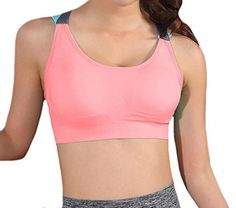 f2cfdbddae Yayu Womens Padded Push Up Crossback No Underwire Sport Bra Pink S -- Check  out the image by visiting the link.Note It is affiliate link to Amazon.   girl