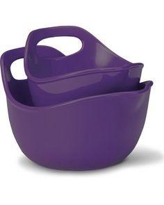 Rachel Ray Eggplant 2-pc Stoneware Mixing Bowl Set