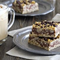 No Bake Chocolate Peanut Butter Oatmeal Bars Recipe