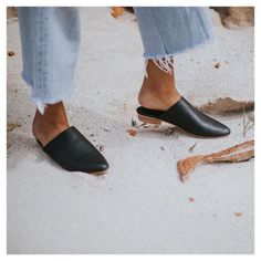 St. Agni Paris Mule in Black Leather - Our gorgeous Paris Mule is a sophisticated but extremely comfortable style that is hand made from the highest quality leather. With a slightly pointed toe and raised heel, the Paris is perfect for any occasion through the cooler seasons.