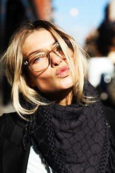 Love the eye glasses.