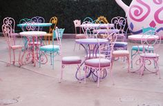 Chairs at Disneyland paris on The Briar Rose Blog