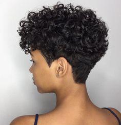 Curly Pixie Hairstyles, Haircuts For Curly Hair, Curly Hair Cuts, Cut My Hair, Curly Hair Styles, Natural Hair Short Cuts, Tapered Natural Hair, Short Sassy Hair, Short Hair Cuts