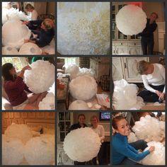 DIY Paper Lanterns & A Garden Engagement Party - Carolina Charm Decoration Communion, Paper Lanterns Party, Tissue Balls, Papier Diy, Diy And Crafts, Paper Crafts, My New Room, Diy Wedding, Wedding Ideas