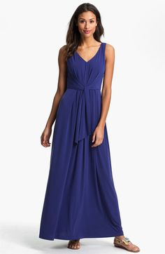 Lovely soft dress in 'bluebird' - great for more casual wedding in summertime. Suzi Chin for Maggy Boutique Tie Front Maxi Dress available at Nordstrom