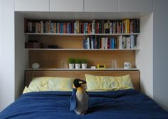 Good idea for small room. Just need to make it Craftsman-ish. Add a couple of built-in lamps. Good to go.