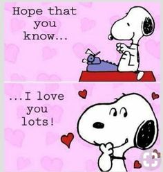 Snoopy, of course Charlie Brown does. Now finish your novel. Snoopy Valentine, Happy Valentines Day, Valentine Verses, Valentines Greetings, Peanuts Cartoon, Peanuts Snoopy, Peanuts Comics, Charlie Brown Und Snoopy, Les Sentiments