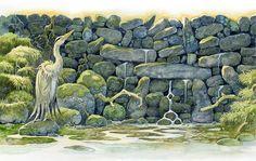 Green Fairy tale illustrations by British artist David Wyatt