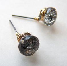 Gemstone post earrings