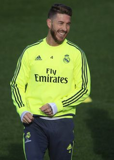 Sergio Ramos laughing hard