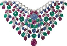 Rosamaria G Frangini | High Colorful Jewellery | Cartier necklace