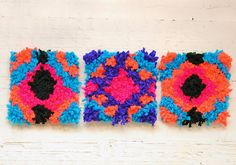 DIY 30 Minute Yarn Mosaics With Super Fast Technique by Handmade Charlotte