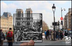 Notre-Dame, Fin août, début septembre 1944. DCA américaine pour contrer un éventuel bombardement. - Golem13