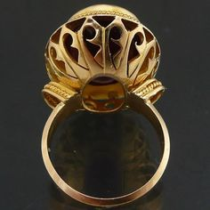 Truly-Awesome-21ct-Colour-Change-ALEXANDRITE-18ct-GOLD-Cocktail-RING-yellow-Sz-Q