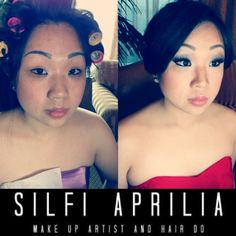 Wedding make up and hair do for asian