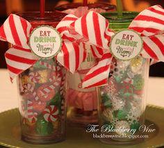 The Blackberry Vine: Teacher Treat Cups - Christmas Edition