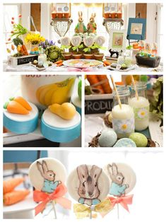 Peter Rabbit Blossoming With Love Themed Baby Shower via Kara's Party Ideas //I'm completely in love with this party! The desserts in it are too die for and I love that it's gender neutral! This party is sure to impress any Peter Rabbit fan! Baby Shower Deco, Baby Shower Parties, Baby Shower Themes, Baby Boy Shower, Shower Ideas, Peter Rabbit Cake, Peter Rabbit Birthday, Peter Rabbit Party, 1st Birthday Girls