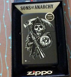 Zippo 28504 Sons of Anarchy Reaper NEW Windproof Lighter Ships Free Great Gift