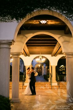 Anna and Spencer Photography, Atlanta Wedding Photographers. Bride and Groom Practicing the First Dance Before Their Wedding Reception. Sea Island Wedding.