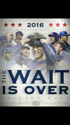 Chicago Cubs, 2016 World Series Champions Chicago Cubs Fans, Chicago Cubs World Series, Chicago Cubs Baseball, Chicago Chicago, Hockey, Cub Sport, Cubs Games, Baseball Series, Cubs Win