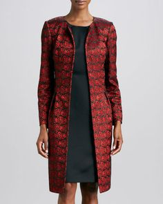 I am always cold and I have a formal event in February - this would be perfect if they still had it in my size. Boo.  Lace Jacket & Sateen Sheath Dress Set by Albert Nipon at Neiman Marcus.