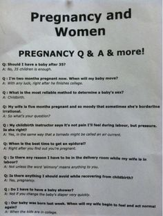 Pregnancy FAQs In LOL Mode