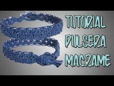 ▶ tutorial como hacer una pulsera de nudo escalonado - YouTube
