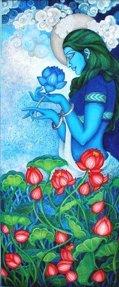 Kerala Mural Painting, Indian Art Paintings, Acrylic Paintings, Rajasthani Art, Rajasthani Painting, Ganesha Painting, Indian Folk Art, Hindu Art, Sketch Painting