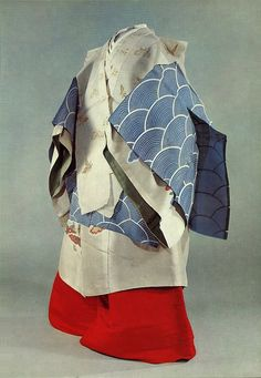 Japanese Embroidery Kimono Costume for a lady in the service of the Imperial Court. Japanese Geisha, Japanese Kimono, Japanese Art, Heian Era, Heian Period, Japanese Textiles, Japanese Fabric, Japanese Embroidery, Sashiko Embroidery