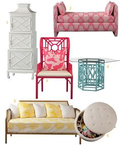 lilly pulitzer furniture | Six Cool Picks From the New Lilly Pulitzer Furniture Line | D Home