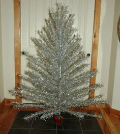 Aluminum Christmas Tree with VIntage Metal