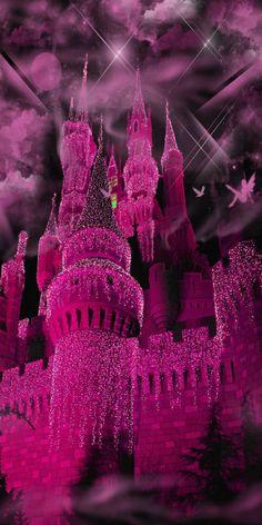 violet fantasy castle