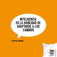 """#Piso9Digital #Frasesdeldía   """"Inteligencia es la habilidad de adaptarse a los cambios""""."""