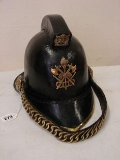 Vintage Leather Firemans Helmet