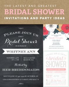 Mixbook's latest bridal shower invitations are just what you need to get the party started. From vintage designs to the trendiest motifs, we have something perfect for the bride.