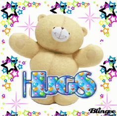 Good Morning Hug, Happy Good Morning Quotes, Hugs And Kisses Quotes, Hug Quotes, Hug Pictures, Teddy Bear Pictures, Baby Bear Tattoo, Happy Birthday Best Wishes, Friends Hugging