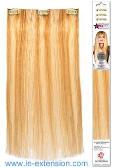 3 fasce larghe 13.5 cm di extension in capelli veri, complete di clip, lunghezza 50 cm! Bellissime e lunghissime... Costo 99 euro, le trovi qui http://www.le-extension.com/articolo/56-extension-clip-lisce.asp