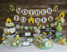 Bumble Bee Baby Shower Banner Mother To Bee by BlueOakCreations