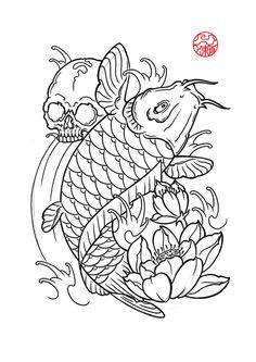 hand drawn dragon and koi fish with flower tattoo for arm japanese Pez Koi Tattoo, Koi Dragon Tattoo, Koi Tattoo Sleeve, Rock Tattoo, Flower Tattoo Drawings, Fish Tattoos, Small Japanese Tattoo, Japanese Koi Fish Tattoo, Koi Fish Drawing