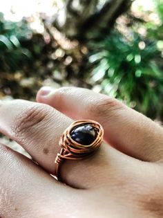 FREE SHIPPING! Fresh water peacock pearl ring. Each ring is handmade using a lovely 8mm fresh water pearl, wrapped in non-tarnish copper jewellery wire. Handmade Jewellery, Unique Jewelry, Handmade Gifts, Copper Jewelry, Wire Jewelry, Wire Wrapped Rings, Pearl Ring, Fresh Water, Peacock