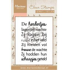 """Clear Stamp van Marianne Design in de serie """"Kerstliedjes""""  Afmeting stempel: 6,5 x 4,2 cm Marianne Design CS0947  Verschillende varianten verkrijgbaar!  €2,95"""
