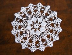 Hand crocheted doilies Handmade white round by VintageDreamBox