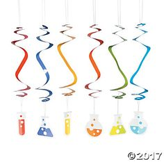Science Party Hanging Swirls