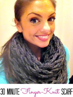30 minute finger knit scarf