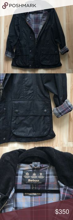 Black Barbour Beadnell In excellent condition - one of my all time favorite jackets but loose on me otherwise I would keep because this jacket lasts FOREVER! Barbour Jackets & Coats Utility Jackets