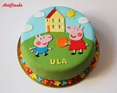 Tort Świnka Peppa Peppa Wutz Kindergeburtstag Party Ideen Peppa Pig is actually a British toddler Tortas Peppa Pig, Bolo Da Peppa Pig, Peppa Pig Birthday Cake, Peppa Pig Cakes, Peppa Pig Invitations, Celebration Cakes, Birthday Celebration, Cake Designs, Cupcake Cakes