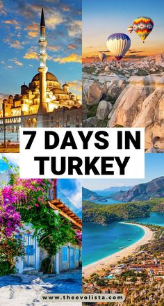 This 7 Day Turkey Itinerary includes everything you would want to do from Istanbul, to hot air ballooning in Cappadocia, walking through history in Epheusus to hitting the beaches in the stunning Turkish Riviera. How to plan the perfect Turkey Itinerary | Best things to do in Turkey | Beautiful places to see in Turkey | Turkey travel guide | Bucket list places to visit on your Turkey trip | Tips and tricks for Turkey travel | What to wear in Turkey #turkey #cappadocia #istanbul #ephesus… Best Travel Guides, Europe Travel Guide, Asia Travel, Cool Places To Visit, Places To Travel, Travel Destinations, Travel Deals, Istanbul Travel, Jordan Travel
