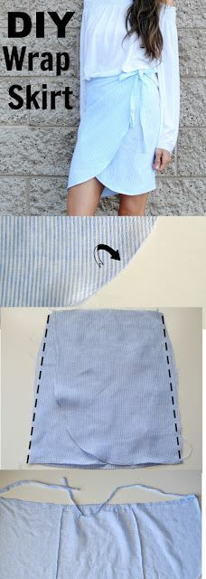 Trash To Couture: DIY: Linen Tulip Wrap Skirt